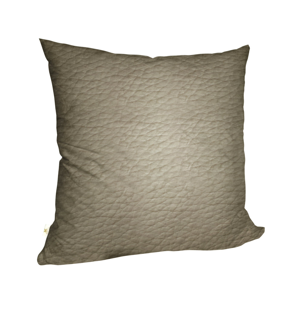 Faux LeatherExotica Decorative Pillow Covers Collection Ivory, Square Set of 2. - FashionHomeGift