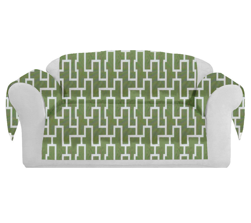 Surprising Blocc Decorative Sofa Couch Covers Collection Green White Bralicious Painted Fabric Chair Ideas Braliciousco