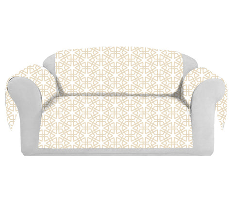 Geom Decorative Sofa / Couch Covers Collection Off-White.