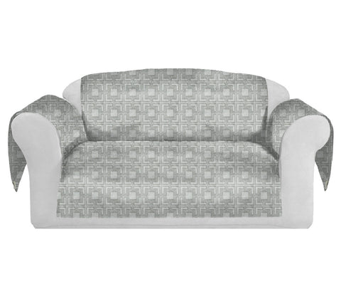 Tagon Decorative Sofa / Couch Covers Collection Silver.
