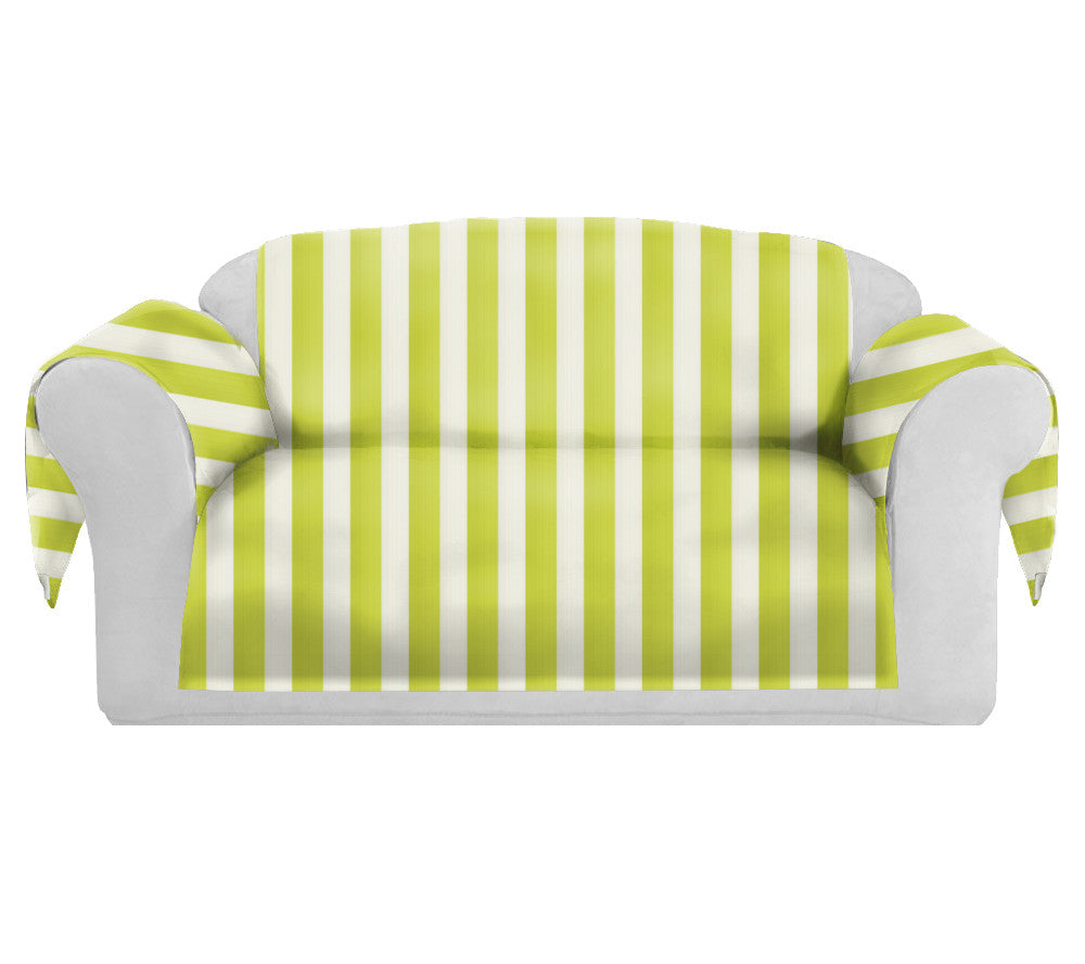 Phenomenal Satispring Decorative Sofa Couch Covers Collection Yellow White Bralicious Painted Fabric Chair Ideas Braliciousco