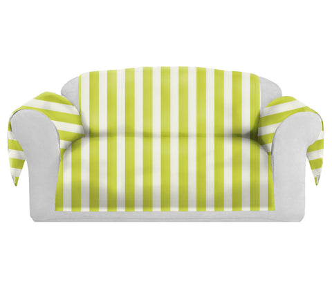 SatiSpring Decorative Sofa / Couch Covers Collection Yellow-White.