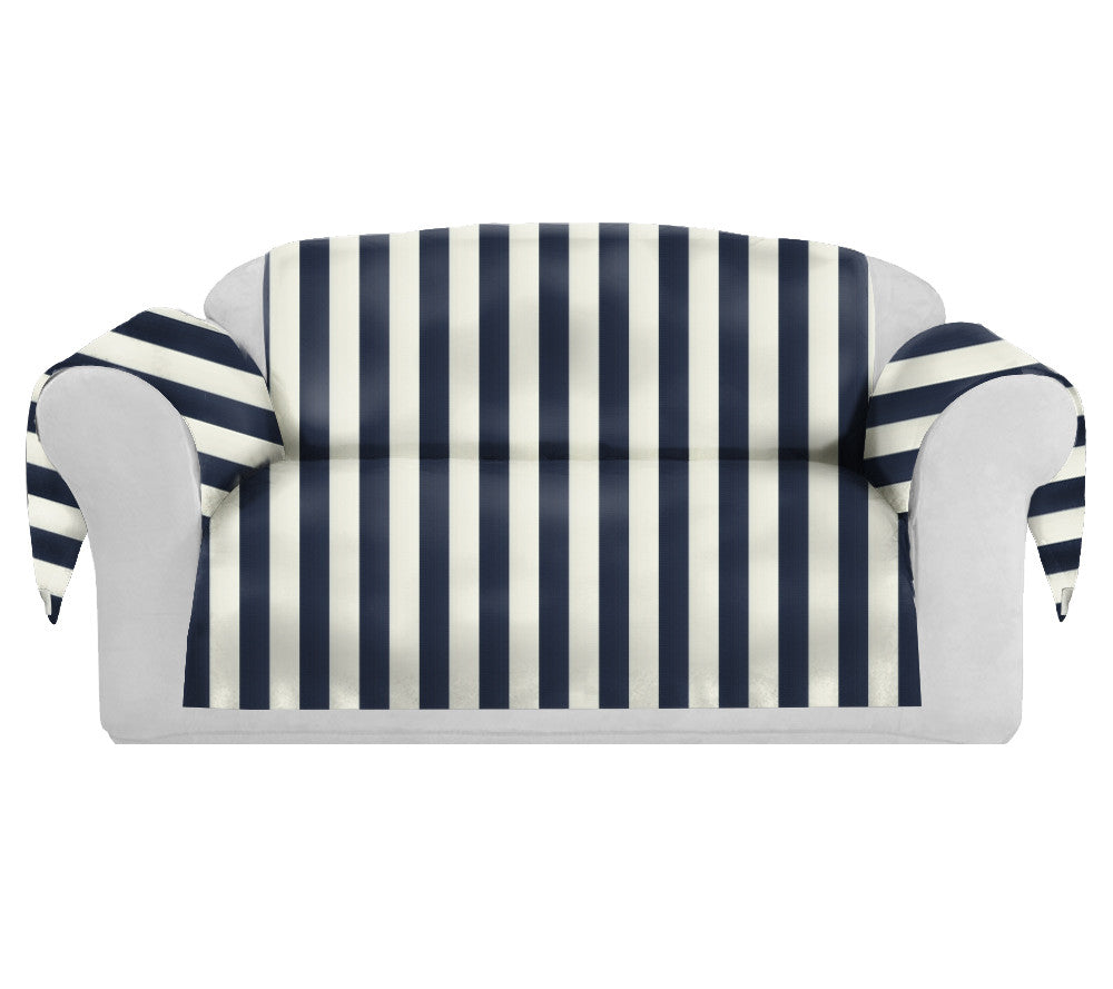 SatiSpring Decorative Sofa / Couch Covers Collection Navy-White. - FashionHomeGift