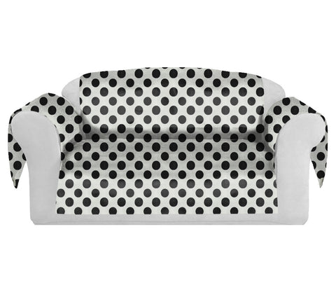 PolkaDots Decorative Sofa / Couch Covers Collection White-Black.