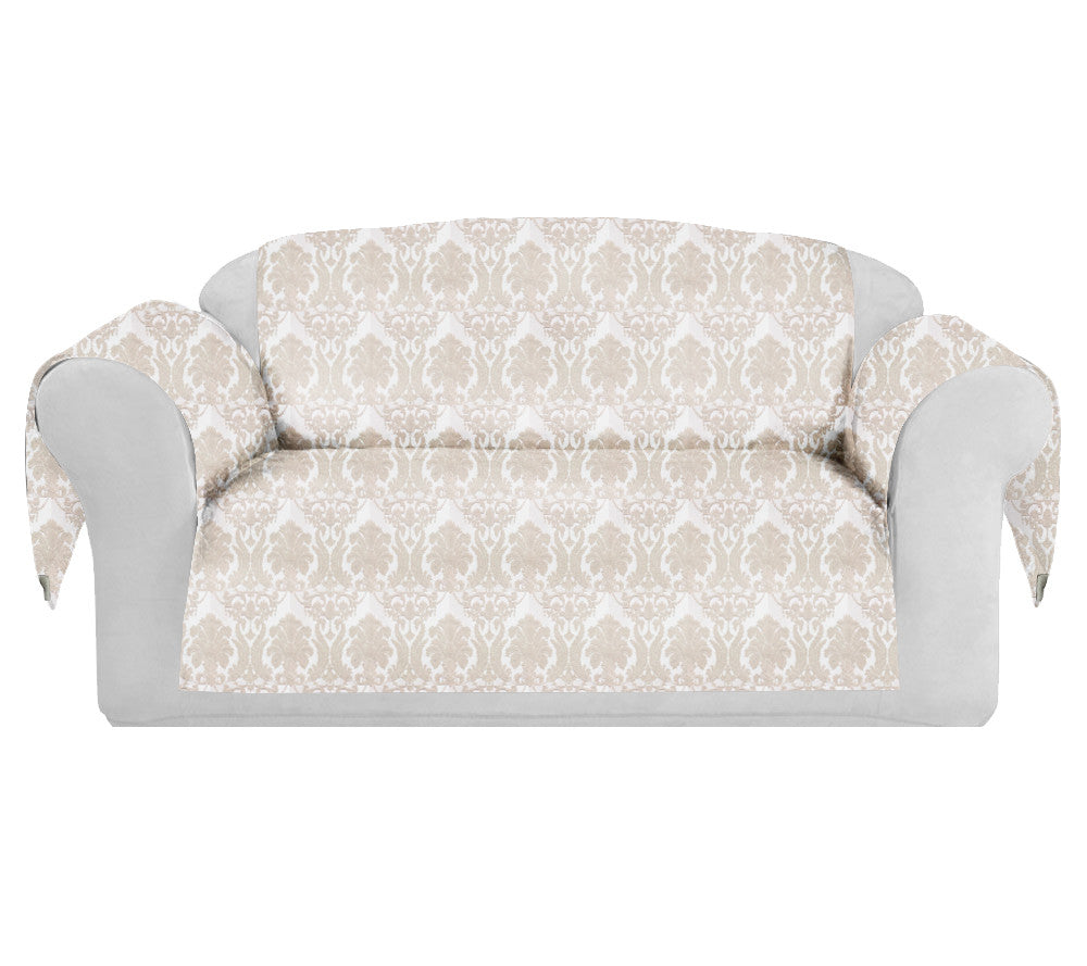 give your sofa a fashionable new look couch makeover just cover rh carolinehallak com decorative sofa slipcovers