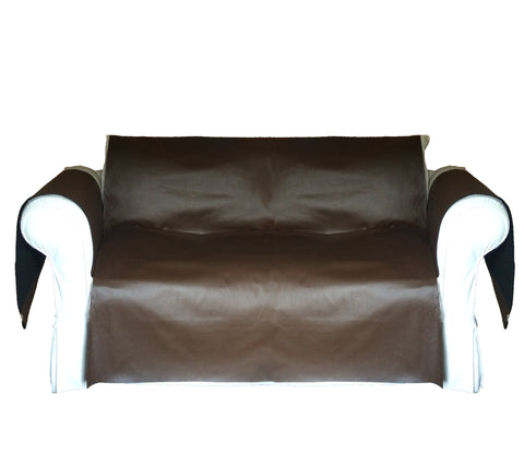 Faux LeatherExotica Decorative Sofa / Couch Covers Collection Chocolate.