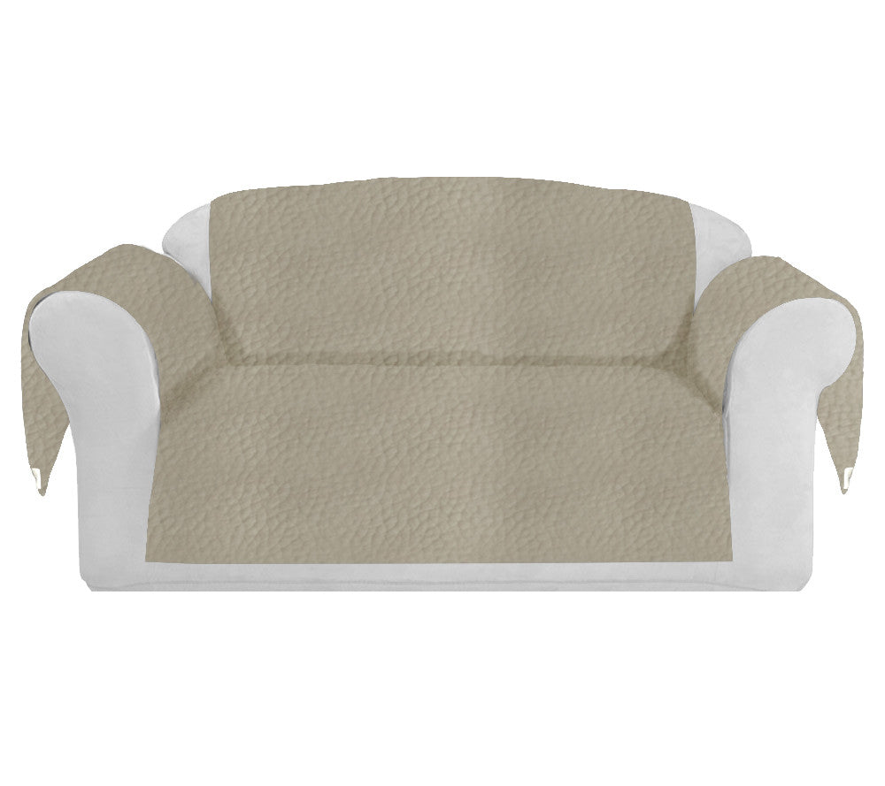 Faux LeatherExotica Decorative Sofa / Couch Covers Collection Ivory. - FashionHomeGift
