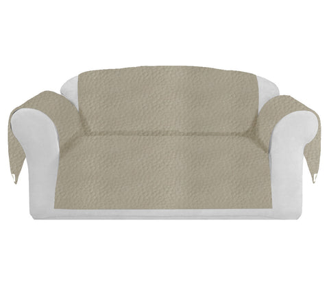 Faux LeatherExotica Decorative Sofa / Couch Covers Collection Ivory.