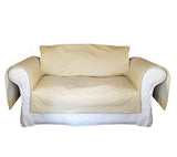 Faux LeatherExotica Decorative Sofa / Couch Covers Collection IceCream. - FashionHomeGift