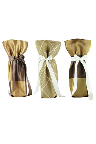 ELEGANCE Collection Wine/ Champagne Gift Bag One Size 3/Pack