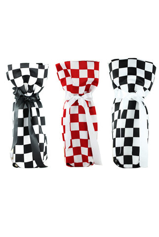 CHESS Collection Wine/ Champagne Gift Bag One Size 3/Pack