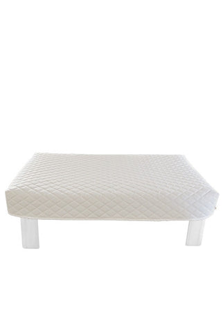 Rectangular White Diamond Pouf Coffee-Table Cover