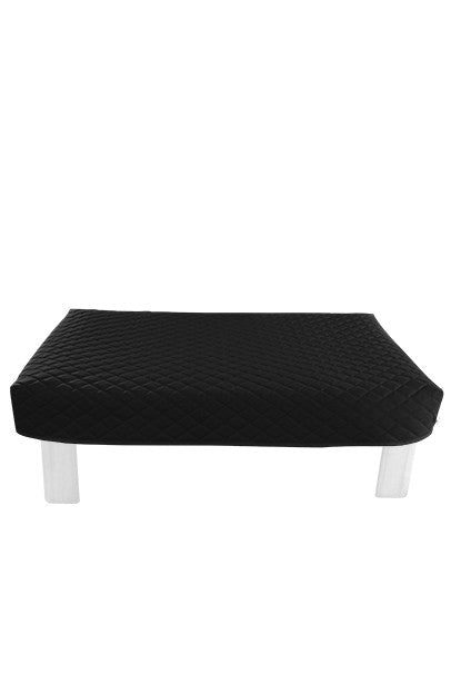 Rectangular Black Diamond Pouf Coffee-Table Cover
