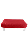 Rectangular Red Diamond Pouf Coffee-Table Cover