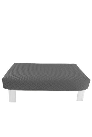 Rectangular Gray Diamond Pouf Coffee-Table Cover
