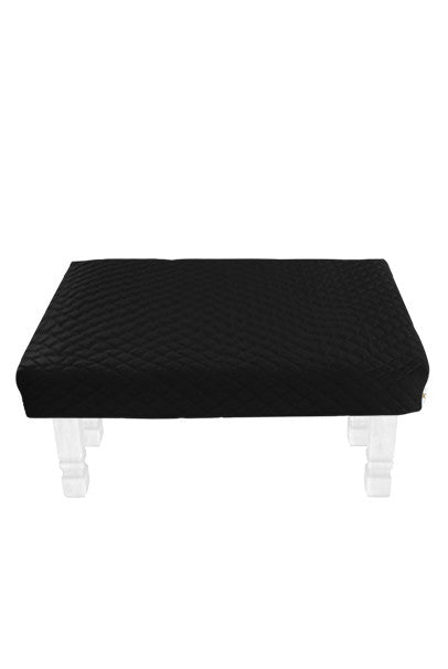 Square Black Diamond Pouf Coffee-Table Cover