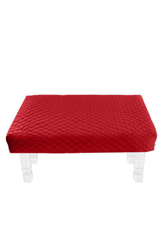 Square Red Diamond Pouf Coffee-Table Cover