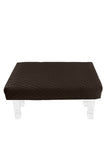 Square Brown Diamond Pouf Coffee-Table Cover