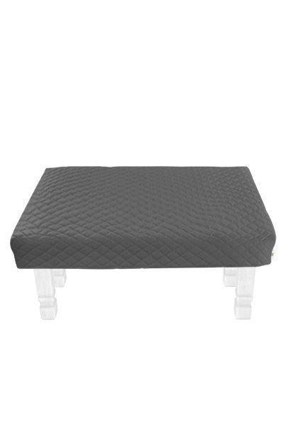 Square Gray Diamond Pouf Coffee-Table Cover