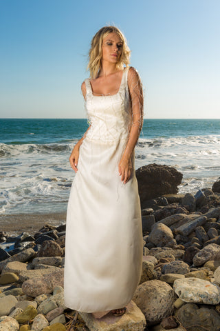 Couture Wedding Gown Hand-Made Swarovski and Crystals