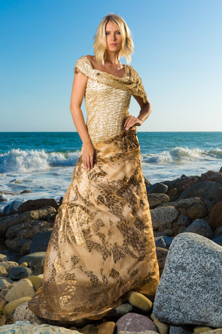 Couture Evening Gown - Couture Italian and French Fabrics