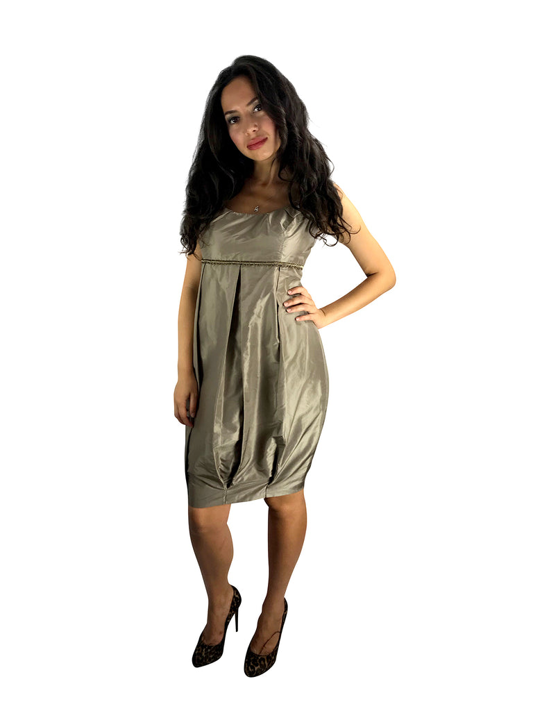 SAMPLE SALE Italian Silk Taffeta Short Dress