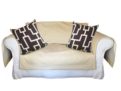 Blocc Decorative Pillow Covers Collection Brown-Beige, Square Set of 2. - FashionHomeGift
