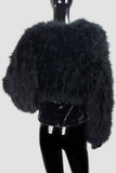 Black Maribou Feathered Bolero