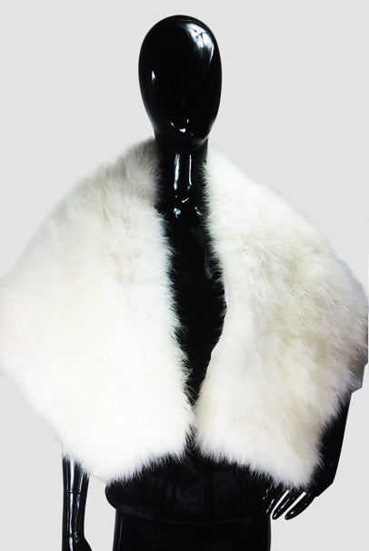 Off White Maribou  Cape