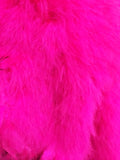 Hot Pink Poofy Maribou Feathers Jacket