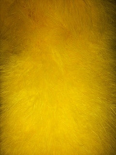 Yellow Maribou Feathers Cape/Wrap/Jacket
