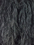 Black Long Ostrich feather Coat