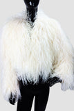 Ostrich Feathers Off White Bolero