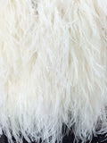 Shaggy White Ostrich feathered Bolero/Jacket