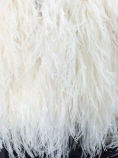 Long White Ostrich Feathers Coat
