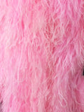 Cotton Candy Pink Long Ostrich feather Coat