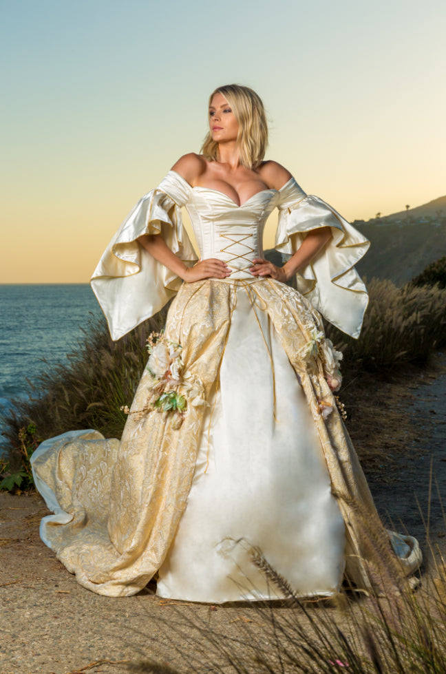 Couture Ball Gown - Medieval French Brocade & Italian Silk ...