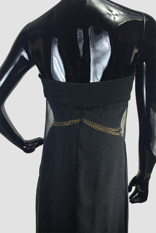 Silk Jersey Dress & Gold Chain - CarolineHallak - 4