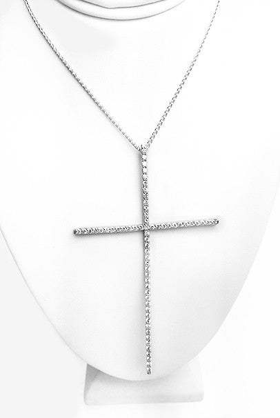 Diamonds Cross Pendant - FashionHomeGift