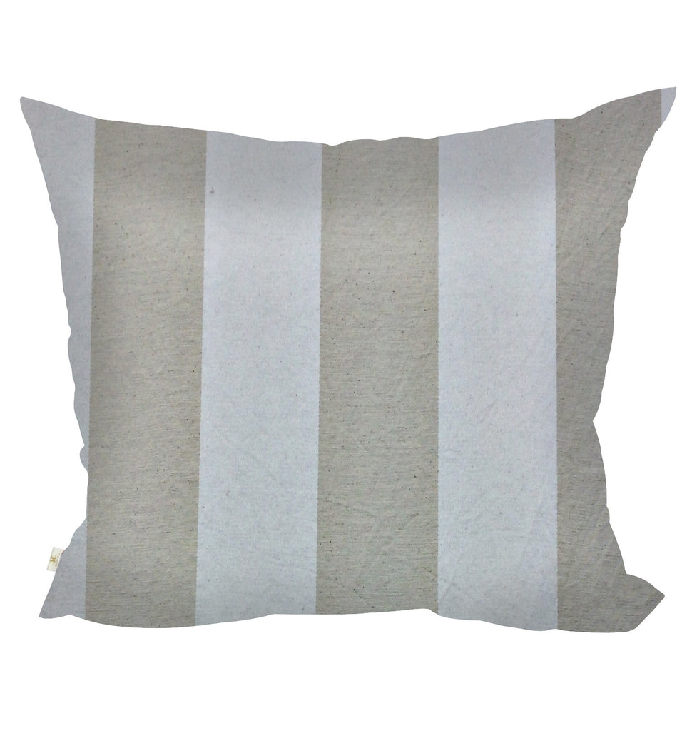 StripCotton Decorative Pillow Covers Collection Natural, Square Set of 2. - FashionHomeGift