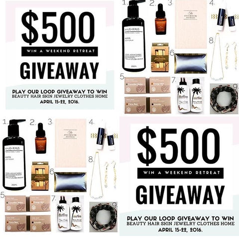 $500 Giveaway on Instagram by Madison and White