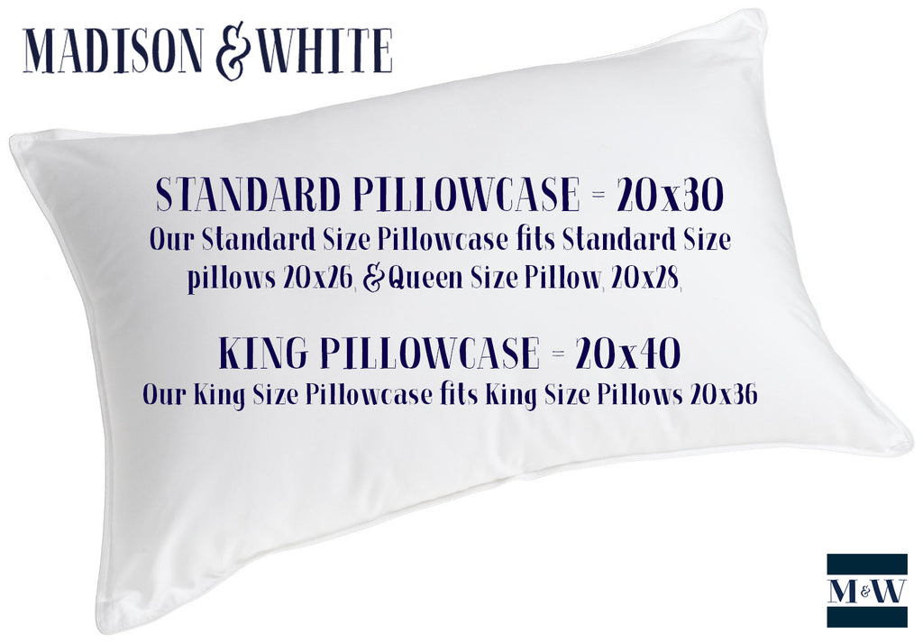 Pillowcase Sizing Guide