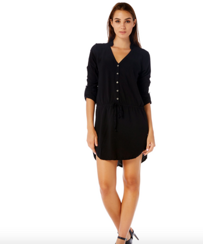 Michael Stars 3/4 Sleeve Shirt Dress LBD 2016