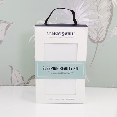 Sleeping Beauty Kit: (SET OF TWO) White Luxury Satin Pillowcases