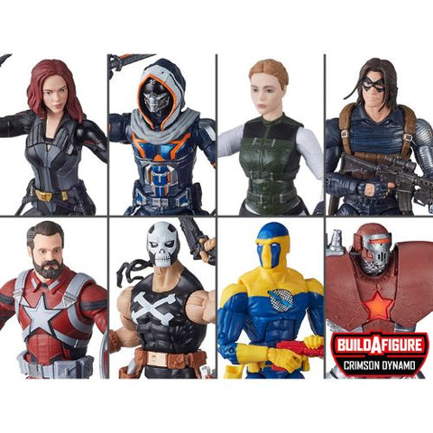 Black Widow (Marvel Legends) Wave 1 - 8 Figures (Crimson Dynamo BAF)