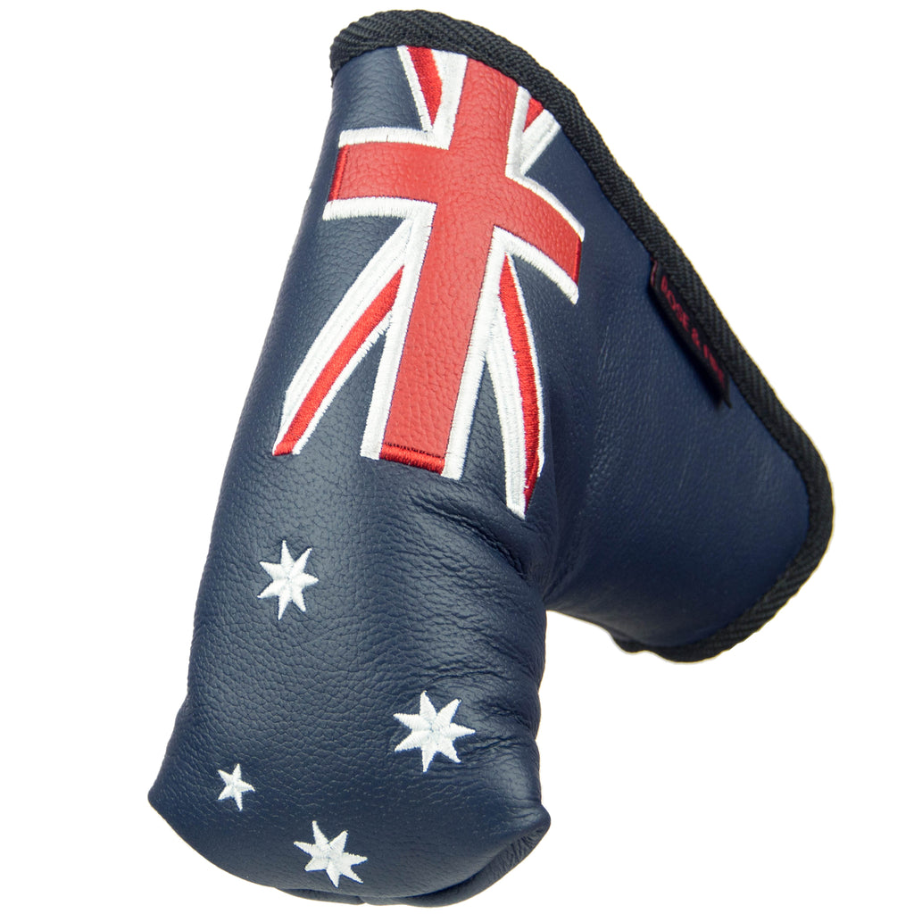 """Australia"" Premium Leather Standard Putter Cover"