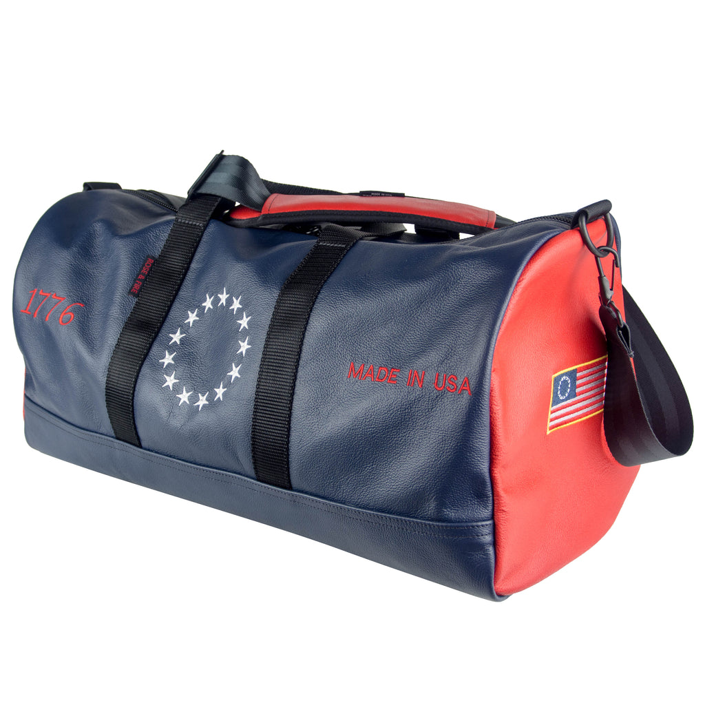 """Betsy Ross"" Premium Leather Duffel Bag (PRE-ORDER)"