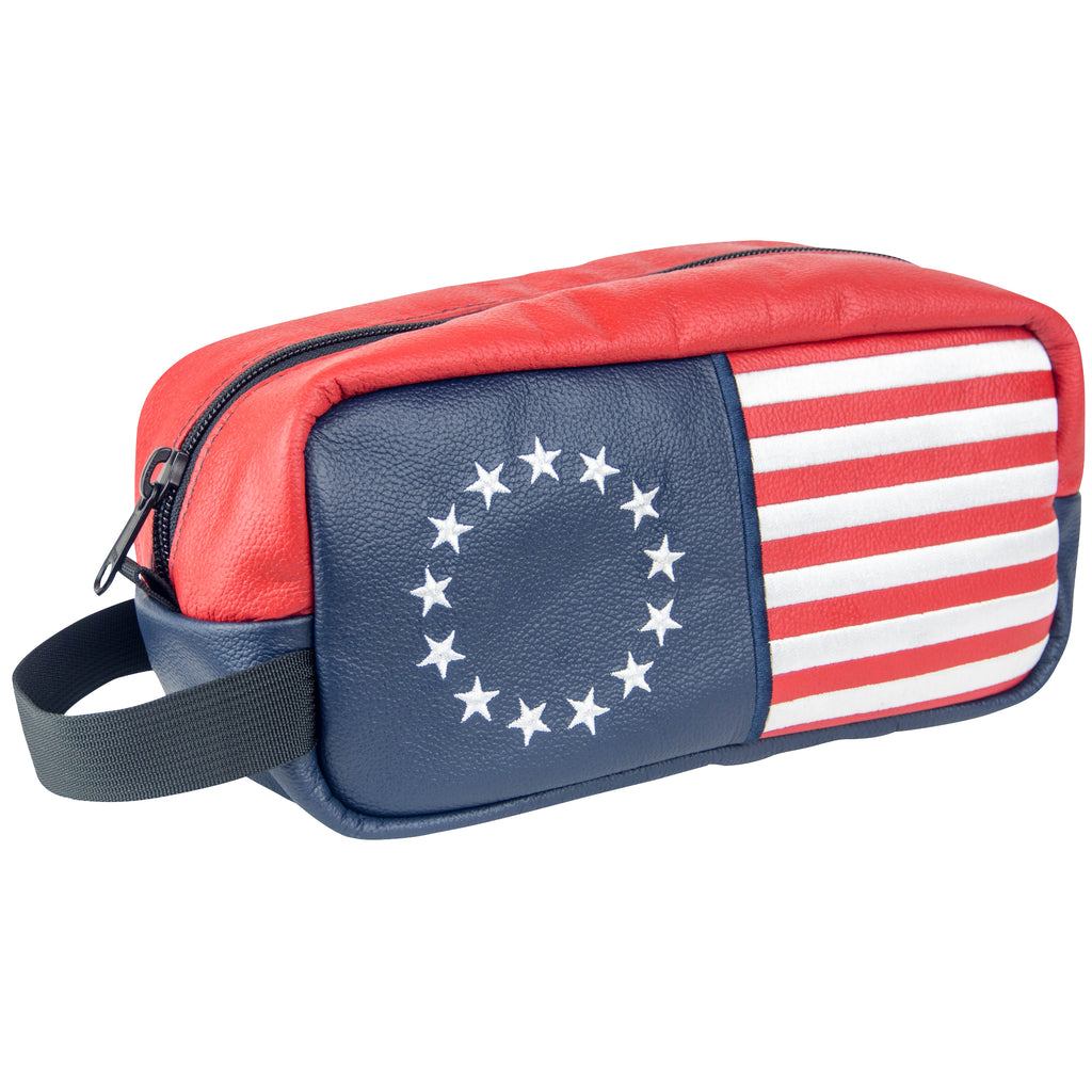 """Betsy Ross"" Premium Leather Wash Bag (PRE-ORDER)"