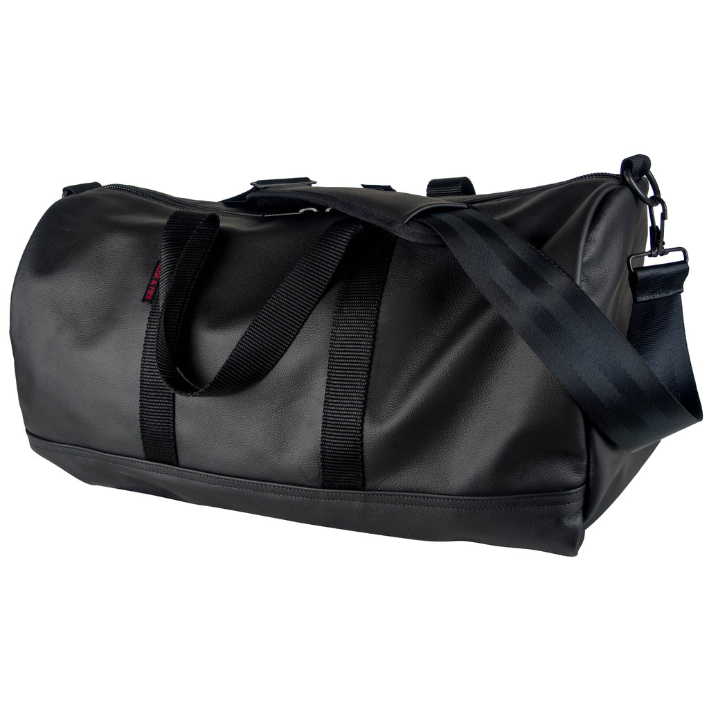 Black Genuine Leather Duffel Bag (PRE-ORDER)