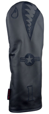 """Blacked-Out Bomber/Warhawk"" LIMITED EDITION Premium USA Leather Headcovers (PRE-ORDER)"